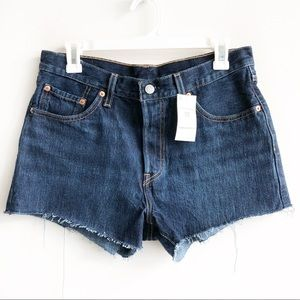 (NWT) Levi's 501 High Waisted Button Fly Shorts
